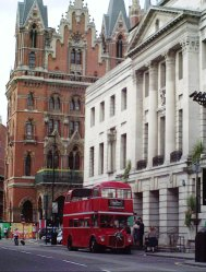 Parked with St Pancras Hotel behind - Camden Register Office, Camden Town Hall