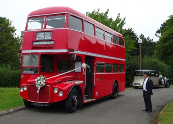 Featuring bus hire using: Routemaster Express.