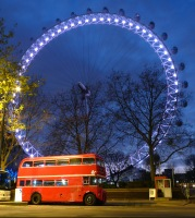 Under the wheel by night - London Eye