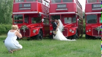 Photographing bride and groom - Near Northampton