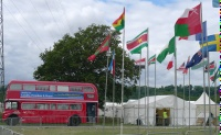 Beside multinational flags - Alton