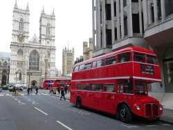 Two New Routemasters and One Routemaster - Tothill Street