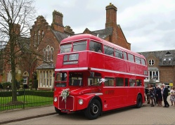 Yellow brick road leads to Routemaster - St Albans Register Office