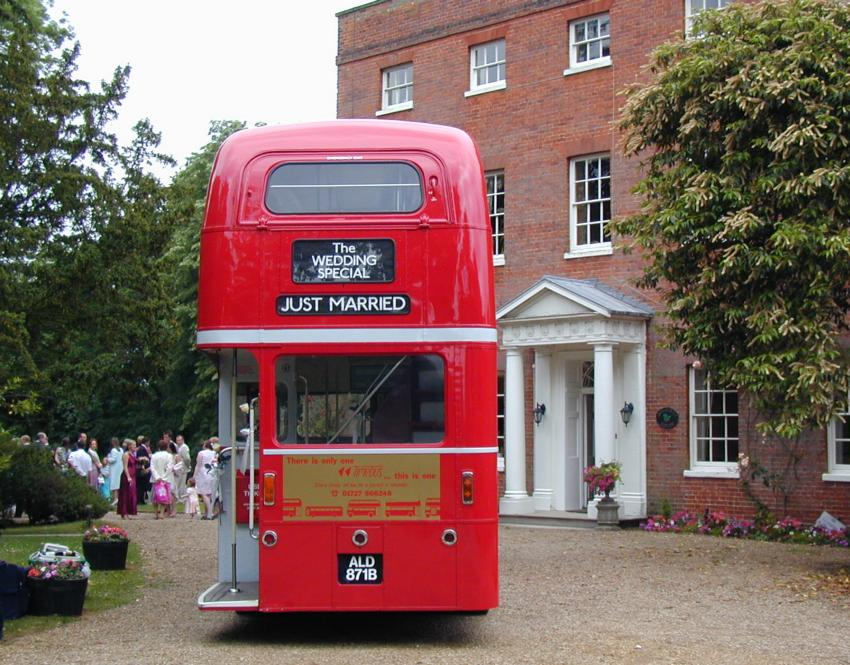 Back end of a bus - Mulberry House, High Ongar