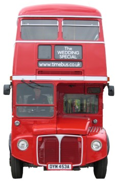 Routemaster bus front view