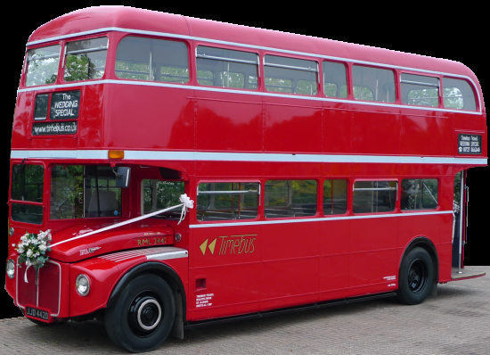 Open Platform Routemaster bus; three quarter view