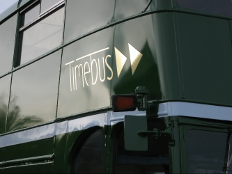 Close up of Timebus logo