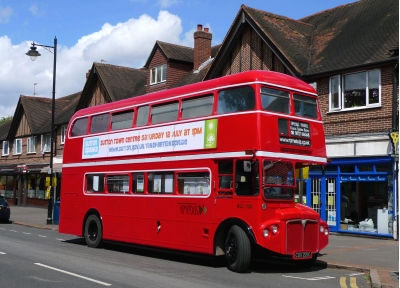 Exhibition Bus as roadshow in Cheam; for Sutton Council