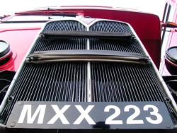 Radiator grille of MXX 223